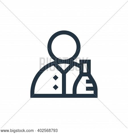 scientist icon isolated on white background. scientist icon thin line outline linear scientist symbo
