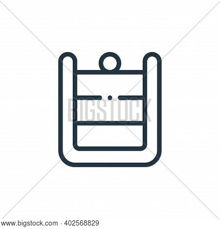 pudding icon isolated on white background. pudding icon thin line outline linear pudding symbol for