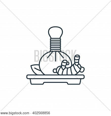 herbal massage icon isolated on white background. herbal massage icon thin line outline linear herba