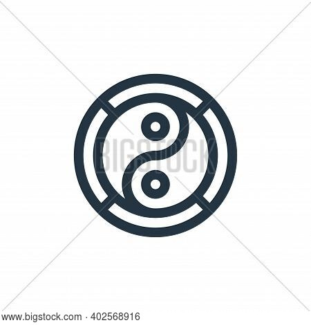 yin yang icon isolated on white background. yin yang icon thin line outline linear yin yang symbol f