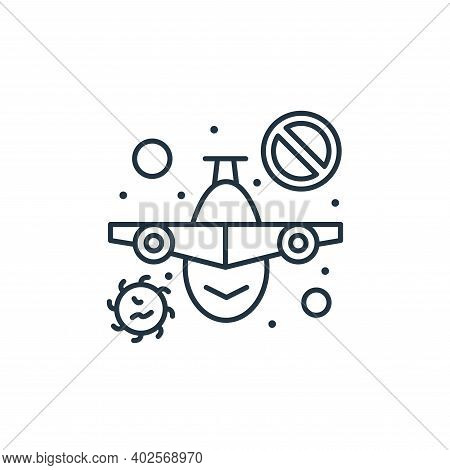no flight icon isolated on white background. no flight icon thin line outline linear no flight symbo