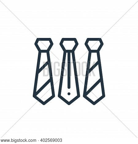 ties icon isolated on white background. ties icon thin line outline linear ties symbol for logo, web