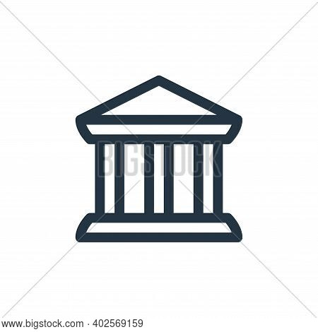 bank icon isolated on white background. bank icon thin line outline linear bank symbol for logo, web
