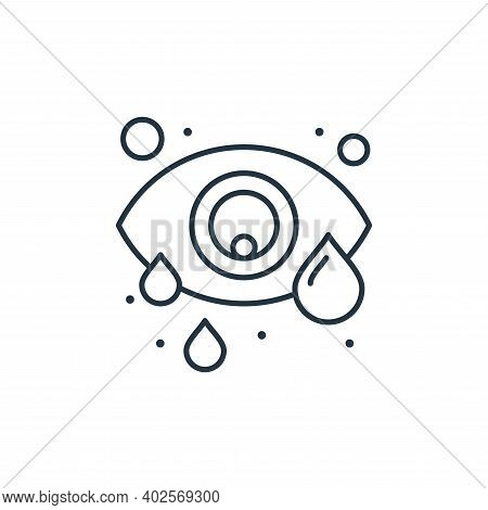 conjunctivitis icon isolated on white background. conjunctivitis icon thin line outline linear conju