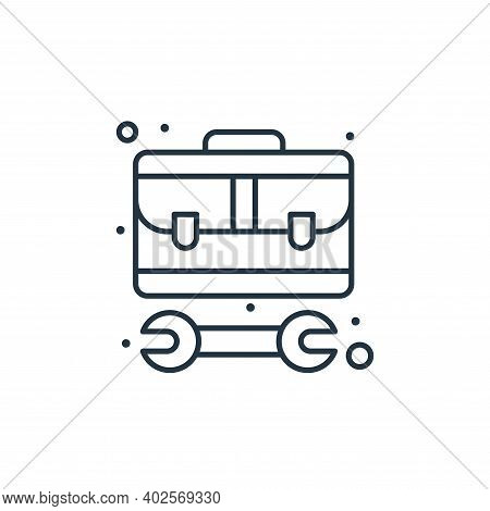 toolbox icon isolated on white background. toolbox icon thin line outline linear toolbox symbol for