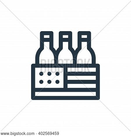 beer box icon isolated on white background. beer box icon thin line outline linear beer box symbol f