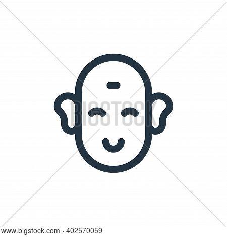 buddha icon isolated on white background. buddha icon thin line outline linear buddha symbol for log