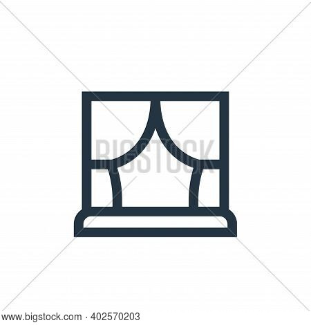 curtains icon isolated on white background. curtains icon thin line outline linear curtains symbol f
