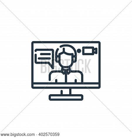 recording icon isolated on white background. recording icon thin line outline linear recording symbo