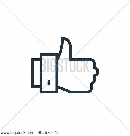 thumbs up icon isolated on white background. thumbs up icon thin line outline linear thumbs up symbo