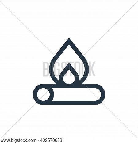 fire icon isolated on white background. fire icon thin line outline linear fire symbol for logo, web