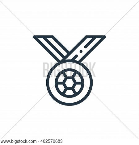 medal icon isolated on white background. medal icon thin line outline linear medal symbol for logo,