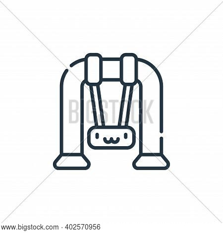 swing icon isolated on white background. swing icon thin line outline linear swing symbol for logo,