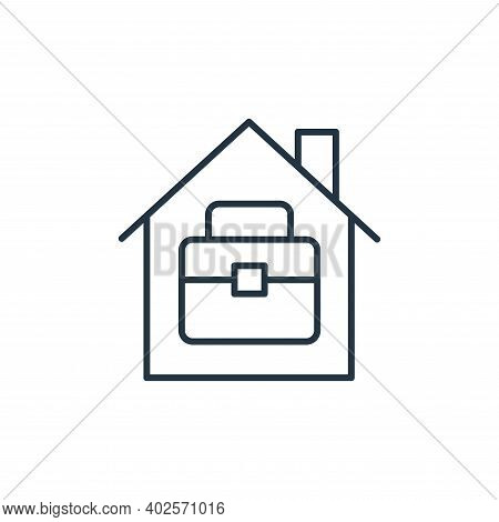 home office icon isolated on white background. home office icon thin line outline linear home office