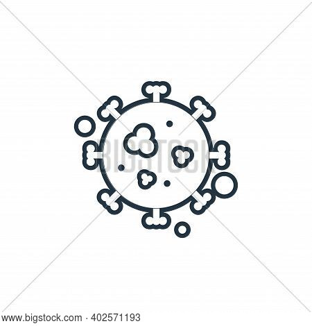 malaria icon isolated on white background. malaria icon thin line outline linear malaria symbol for