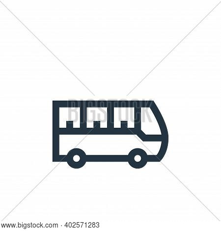electric bus icon isolated on white background. electric bus icon thin line outline linear electric