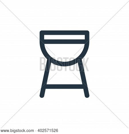 bbq icon isolated on white background. bbq icon thin line outline linear bbq symbol for logo, web, a