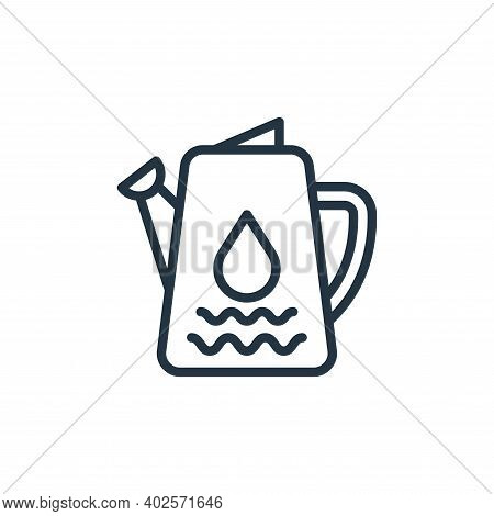 water pot icon isolated on white background. water pot icon thin line outline linear water pot symbo