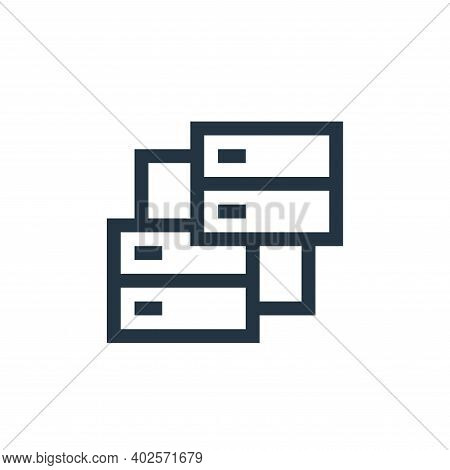 servers icon isolated on white background. servers icon thin line outline linear servers symbol for