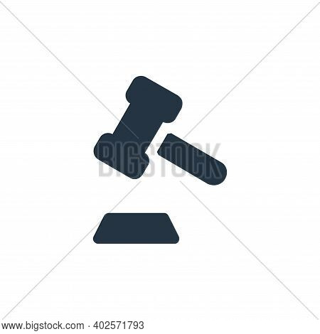 auction icon isolated on white background. auction icon thin line outline linear auction symbol for