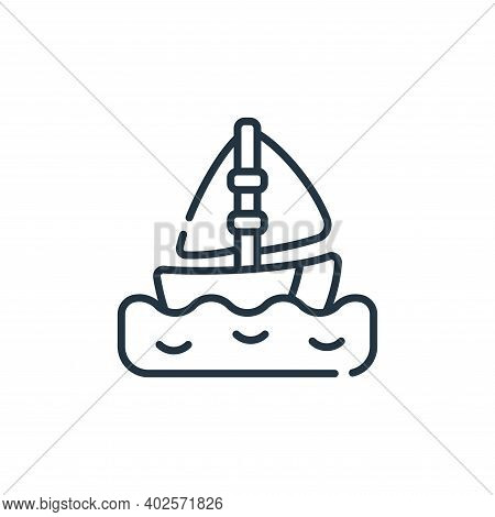 sailboat icon isolated on white background. sailboat icon thin line outline linear sailboat symbol f