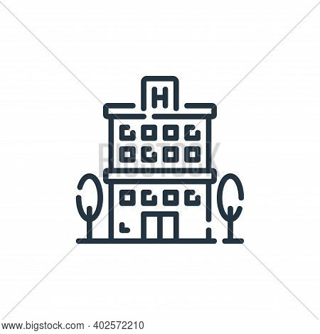 hospital building icon isolated on white background. hospital building icon thin line outline linear