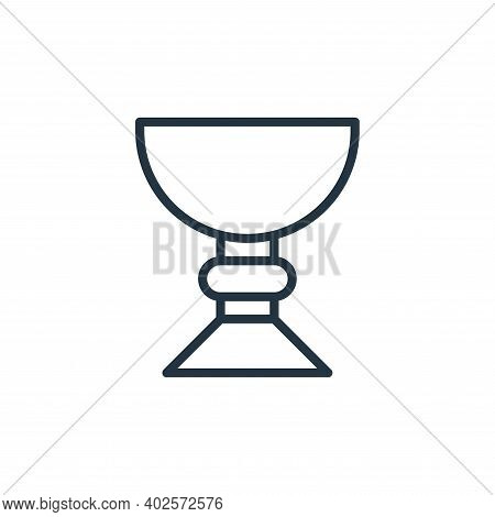 holy chalice icon isolated on white background. holy chalice icon thin line outline linear holy chal