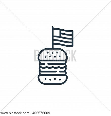 burger icon isolated on white background. burger icon thin line outline linear burger symbol for log
