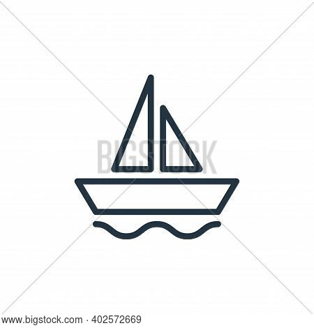 sailing ship icon isolated on white background. sailing ship icon thin line outline linear sailing s