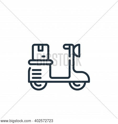 scooter icon isolated on white background. scooter icon thin line outline linear scooter symbol for