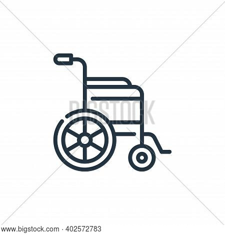wheelchair icon isolated on white background. wheelchair icon thin line outline linear wheelchair sy