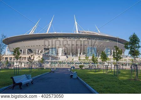 Saint Petersburg, Russia - May 20, 2018: Modern Stadium