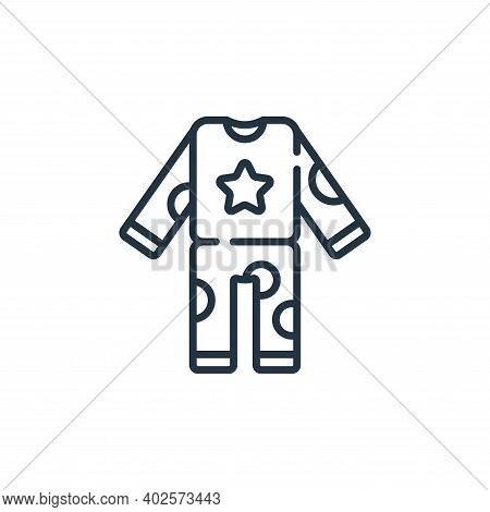 pajamas icon isolated on white background. pajamas icon thin line outline linear pajamas symbol for