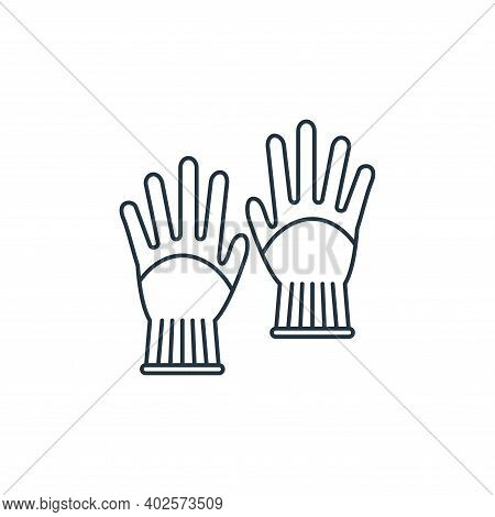 gloves icon isolated on white background. gloves icon thin line outline linear gloves symbol for log