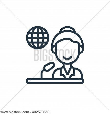 journalist icon isolated on white background. journalist icon thin line outline linear journalist sy