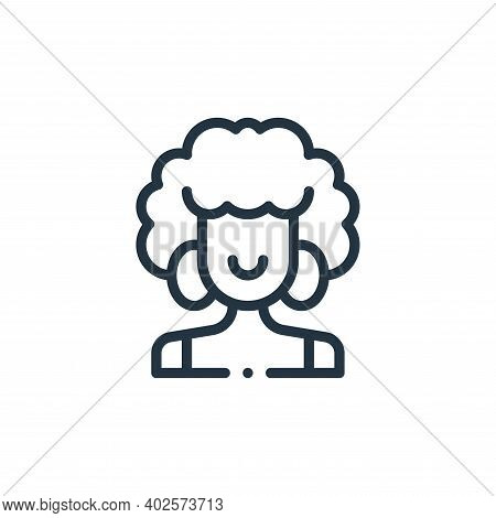 afro icon isolated on white background. afro icon thin line outline linear afro symbol for logo, web