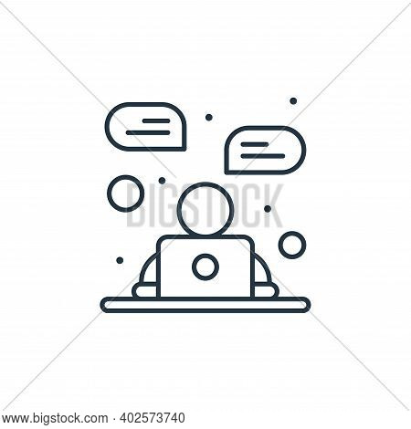 online chat icon isolated on white background. online chat icon thin line outline linear online chat