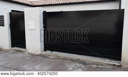 Modern Black Modern Gate Of Suburb Detached House