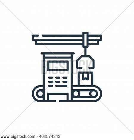 machinery icon isolated on white background. machinery icon thin line outline linear machinery symbo