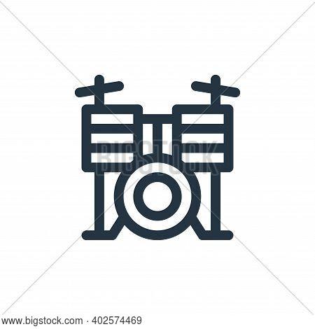 drum set icon isolated on white background. drum set icon thin line outline linear drum set symbol f