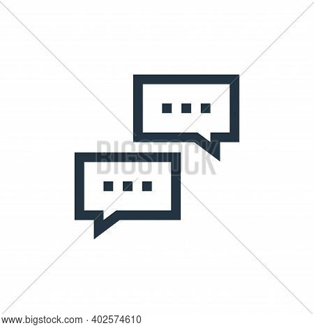 speech bubble icon isolated on white background. speech bubble icon thin line outline linear speech