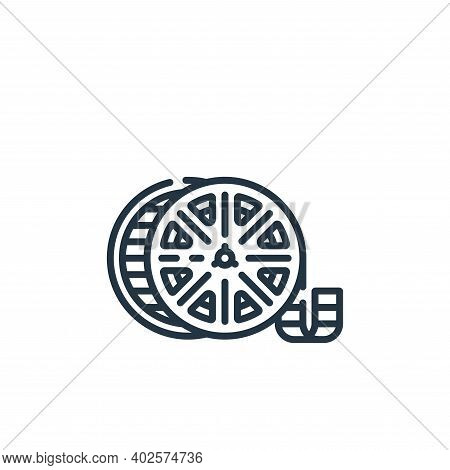 film reel icon isolated on white background. film reel icon thin line outline linear film reel symbo