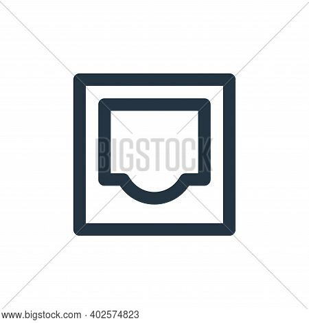 inbox icon isolated on white background. inbox icon thin line outline linear inbox symbol for logo,