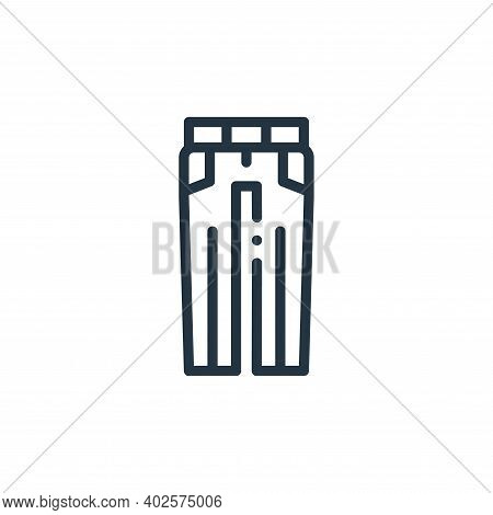 trousers icon isolated on white background. trousers icon thin line outline linear trousers symbol f