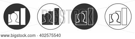 Black Productive Human Icon Isolated On White Background. Idea Work, Success, Productivity, Vision A
