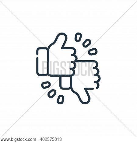 feedback icon isolated on white background. feedback icon thin line outline linear feedback symbol f