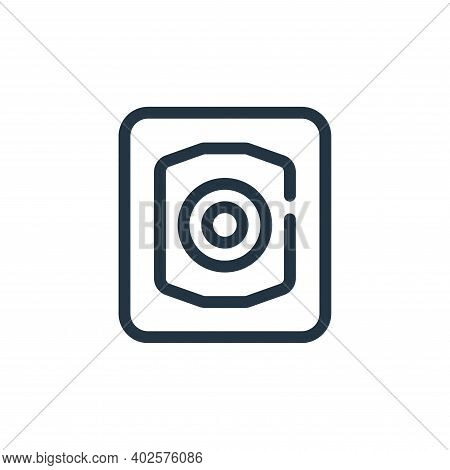 focus icon isolated on white background. focus icon thin line outline linear focus symbol for logo,