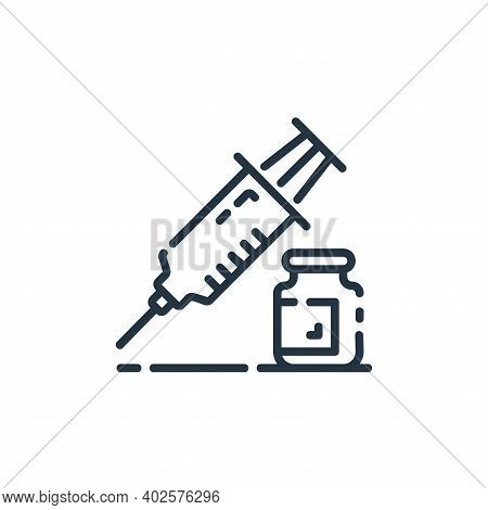 injection icon isolated on white background. injection icon thin line outline linear injection symbo