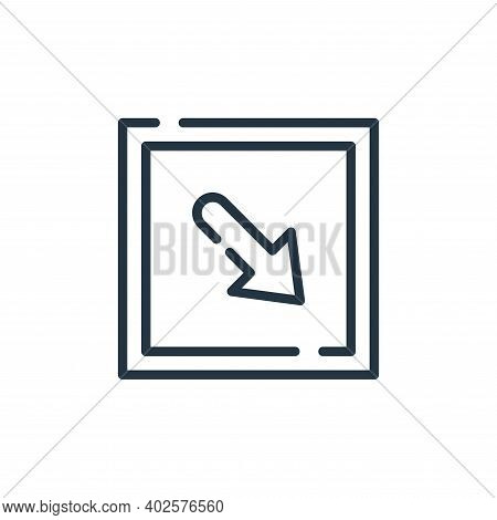 bottom right icon isolated on white background. bottom right icon thin line outline linear bottom ri