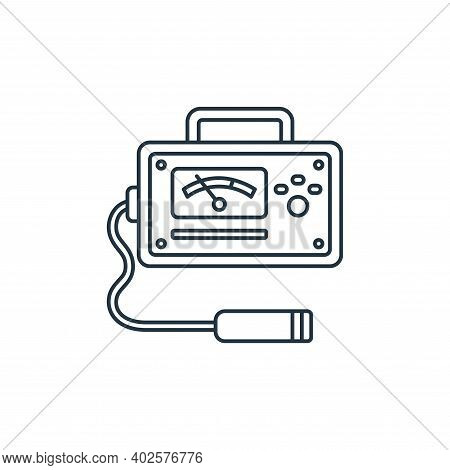 geiger counter icon isolated on white background. geiger counter icon thin line outline linear geige